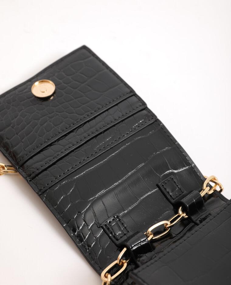 Pochette per smartphone con tracolla nero