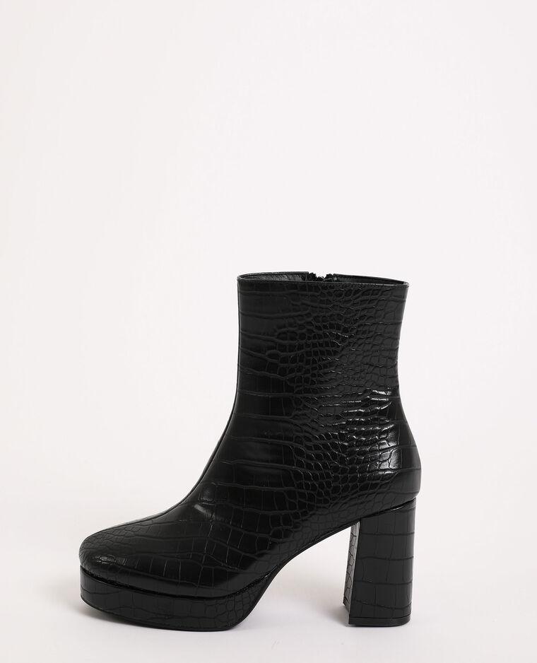 Stivali con plateau nero - Pimkie