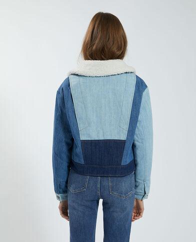 Giacca di jeans trapuntata tricolore blu - Pimkie