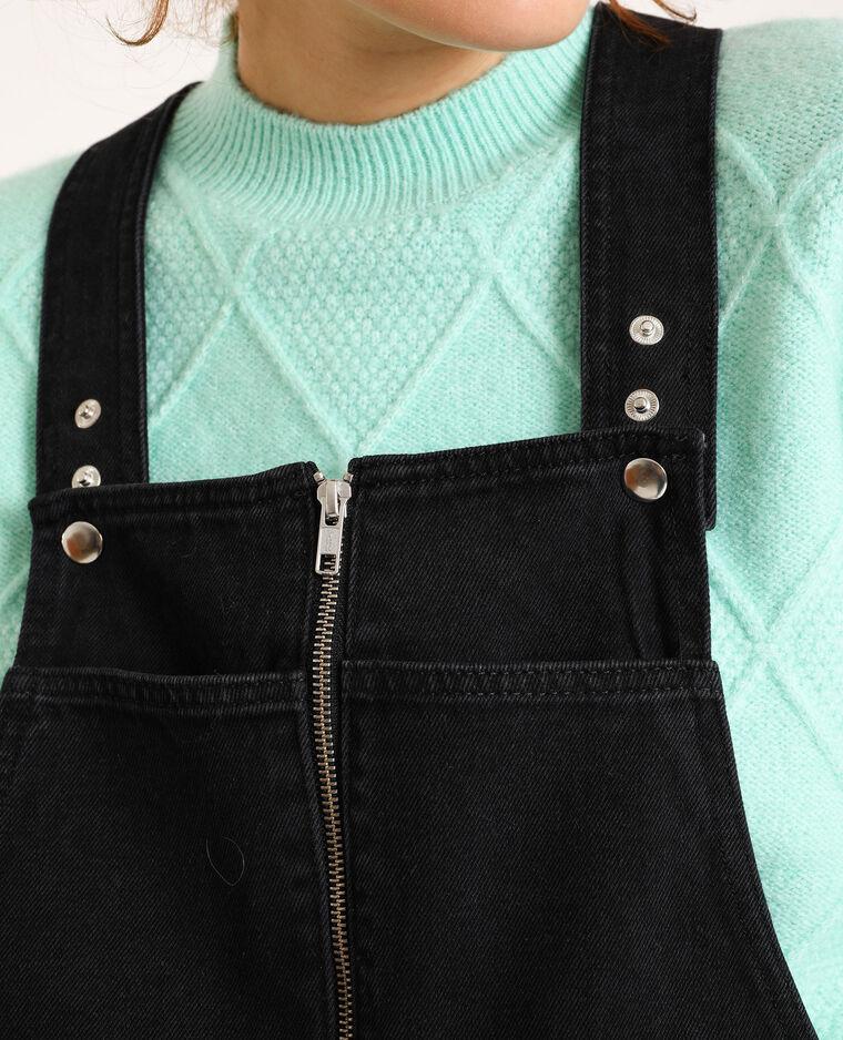 Abito salopette di jeans grigio scuro