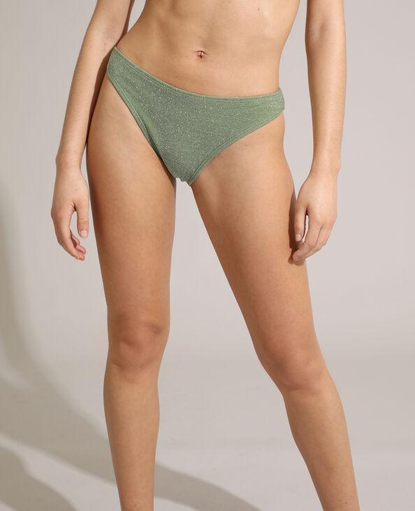Slip di costume da bagno con paillettes verde - Pimkie