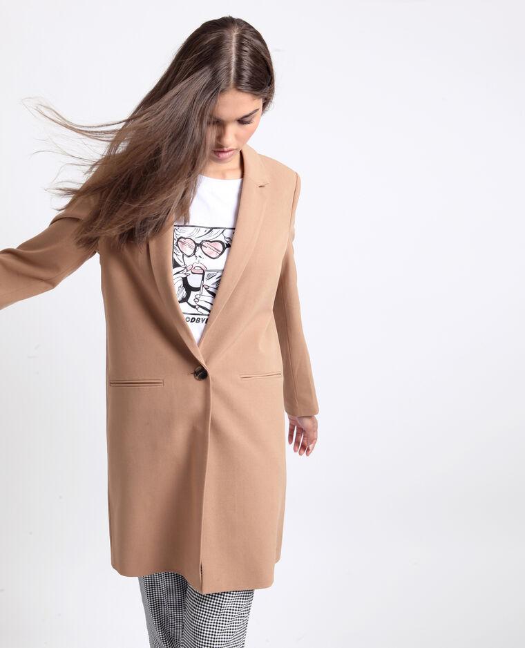 Cappotto morbido marrone