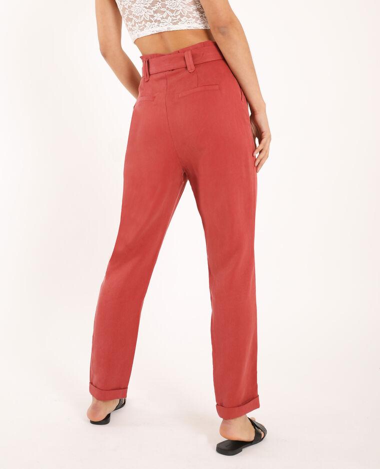 Pantalone a carota rosa
