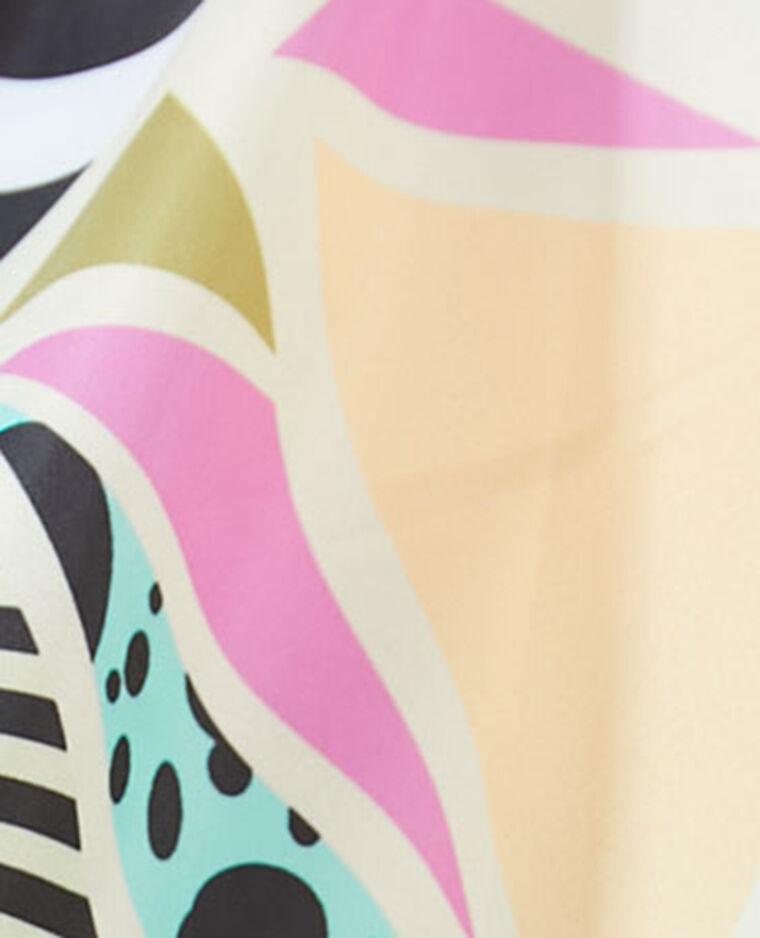 Giacca a vento impermeabile con cappuccio leopardato blu - Pimkie