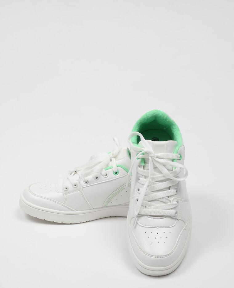Scarpe da tennis con lacci bianco - Pimkie