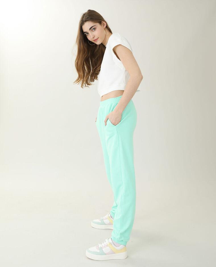 Pantalone da jogging verde acqua - Pimkie