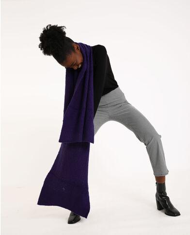 Sciarpa lunga viola