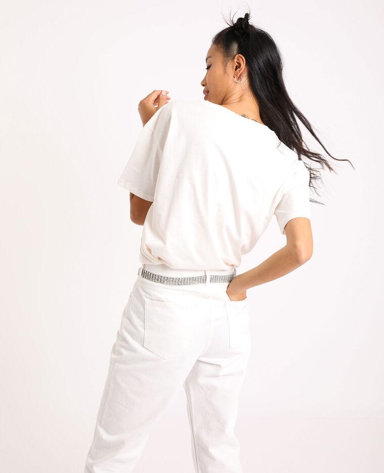 T-shirt con motivo grafico bianco