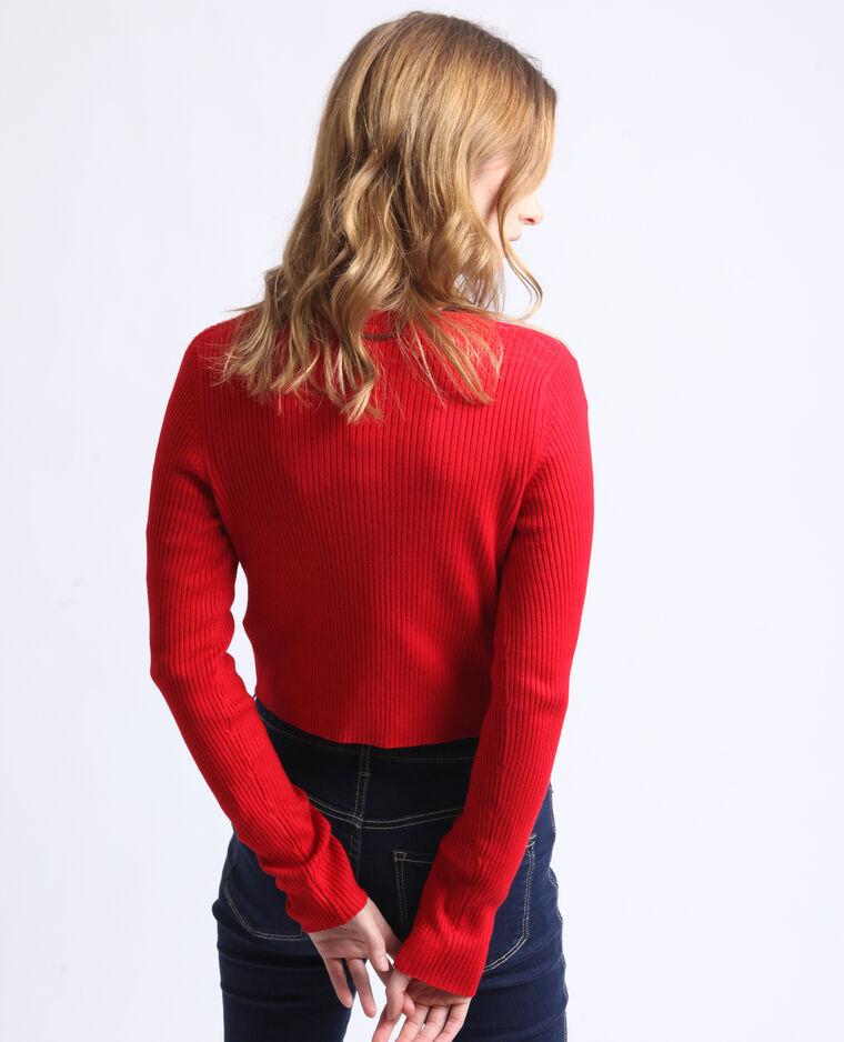 Cardigan corto rosso