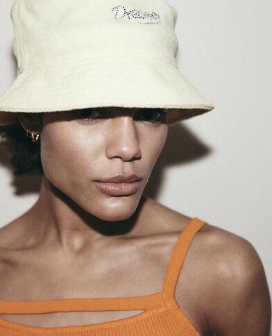 Cappello bob di spugna giallo pallido - Pimkie
