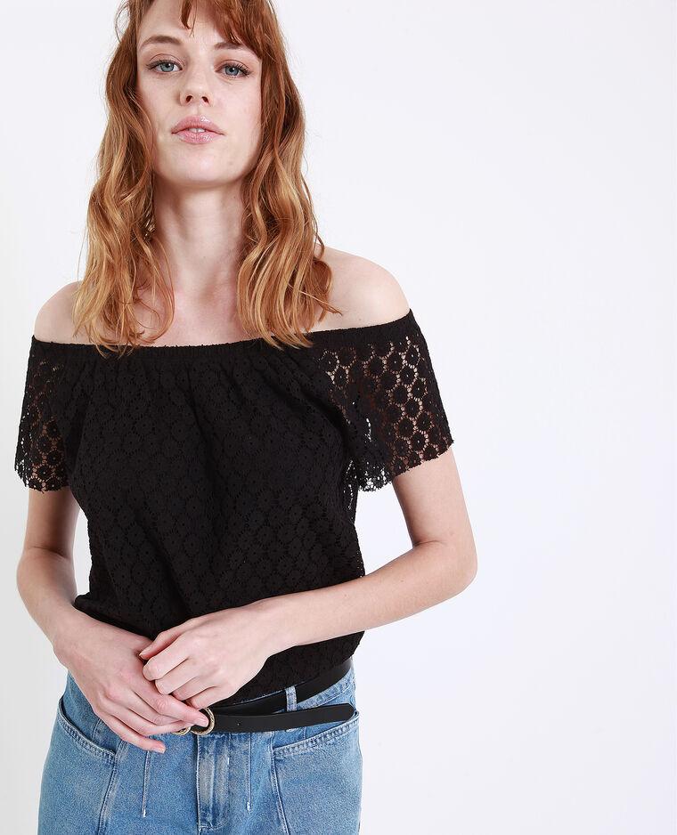 T-shirt ricamata nero