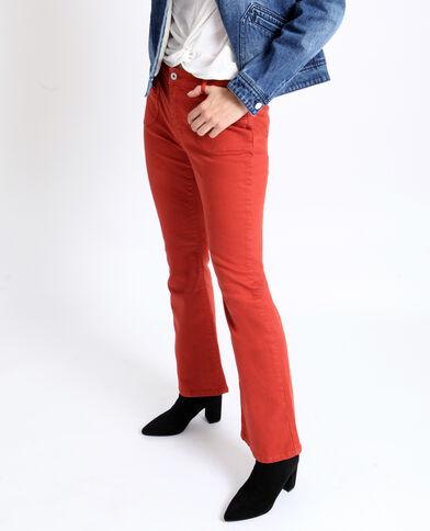 Pantalone flare ruggine