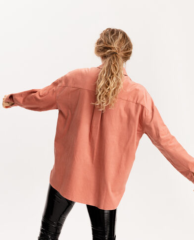 Camicia in velluto arancio