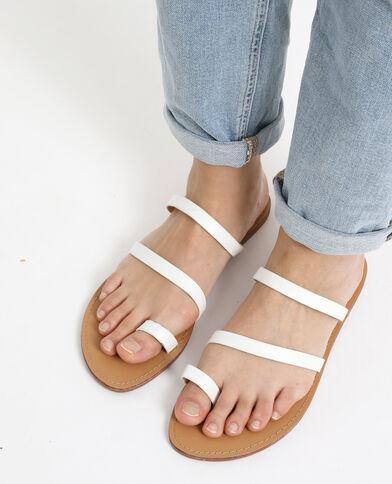 Scarpe derby basse in similpelle bianco