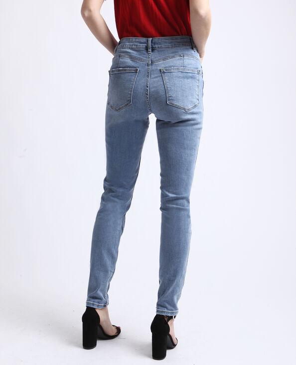 Jeans push up mid waist blu delavato