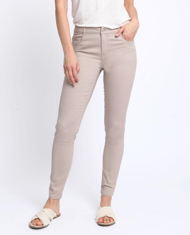 Pantalone push up mid waist beige