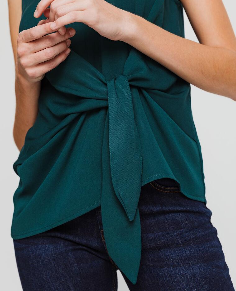 Blusa senza maniche verde
