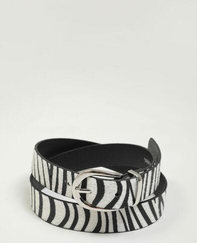 Cintura zebrata nero - Pimkie