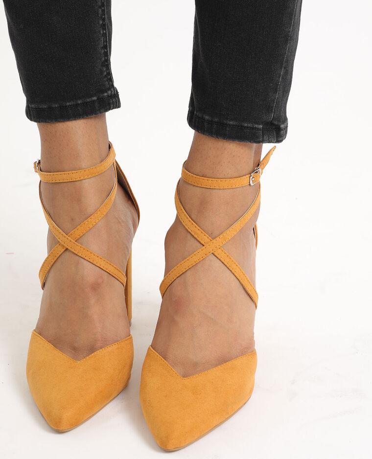 Scarpe décolleté a punta giallo
