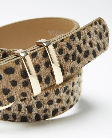 Cintura effetto pelle di animale beige - Pimkie