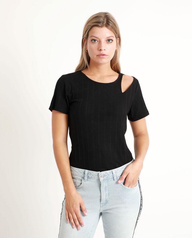 T-shirt traforata nero
