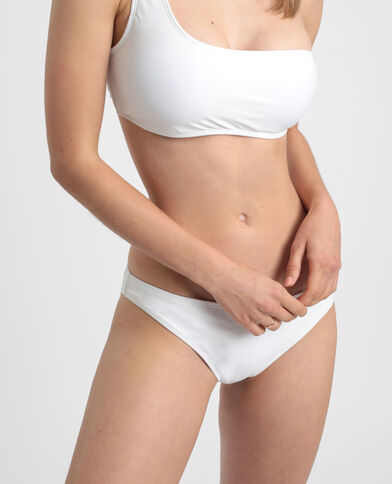 Pezzo sotto di bikini tinta unita bianco