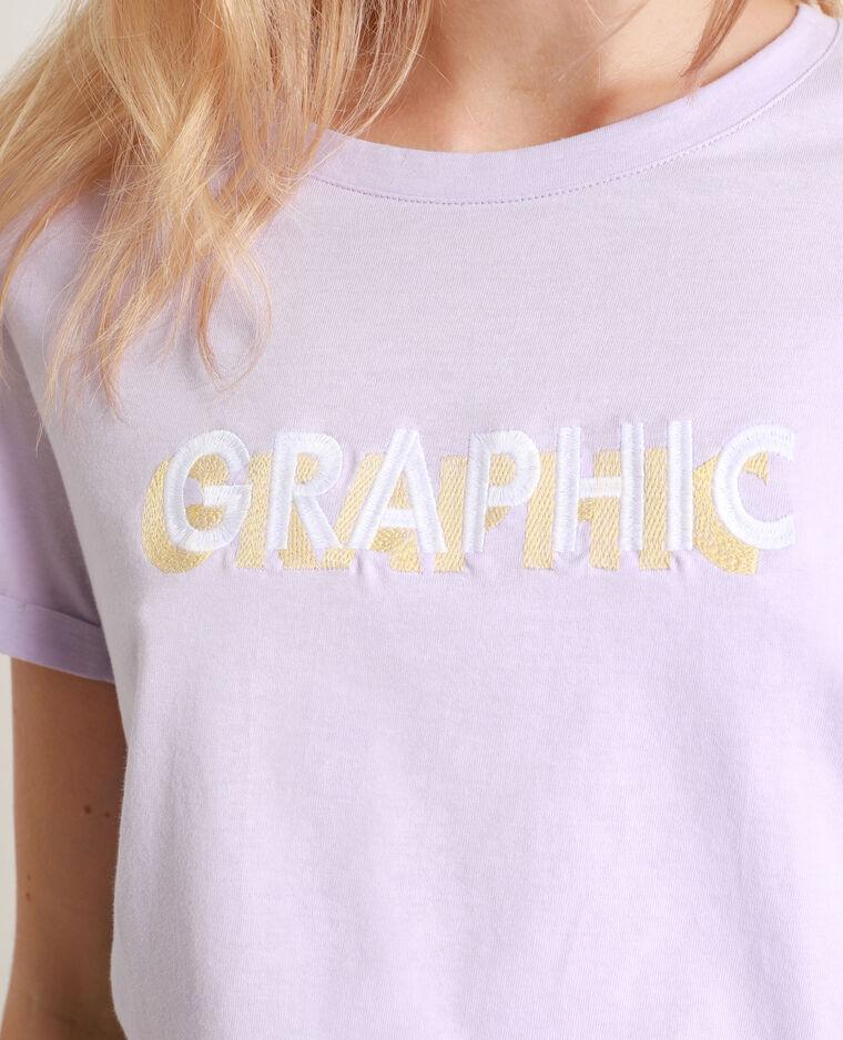 T-shirt con messaggio parme