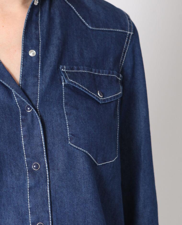Camicia denim blu scuro