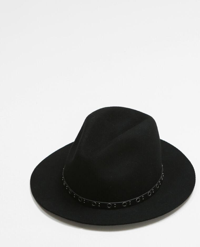 Cappello fedora con occhielli nero - 947089899A08  fb38a0bdfc3f