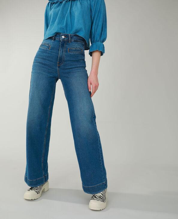 Jeans flare blu denim