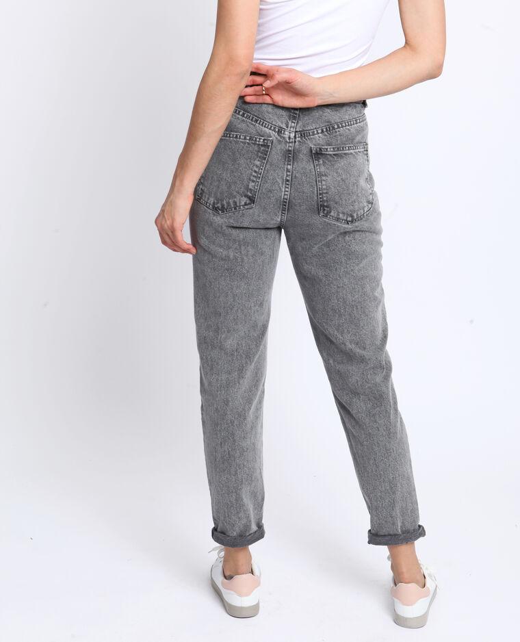 Jeans a vita alta grigio