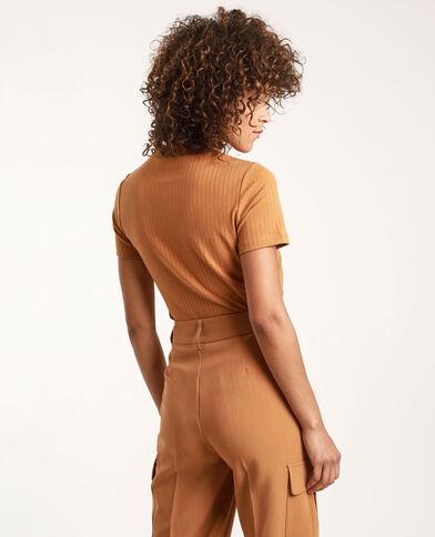T-shirt maniche corte cammello