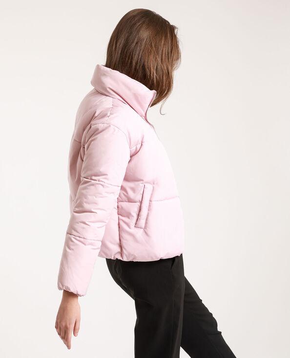 Piumino corto rosa