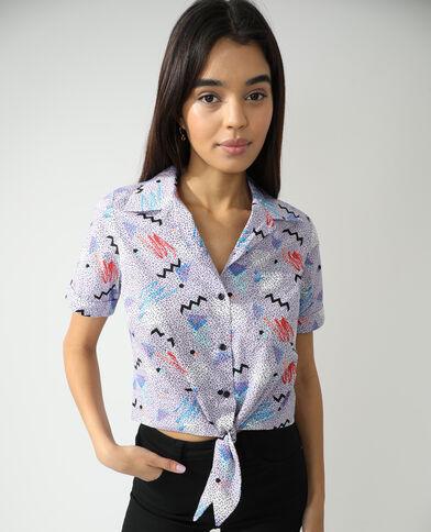 Camicia da annodare fantasia viola - Pimkie