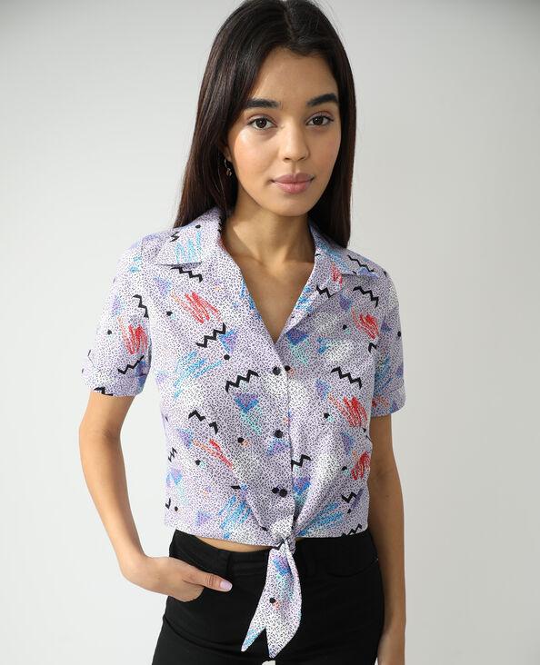 Camicia da annodare fantasia blu - Pimkie