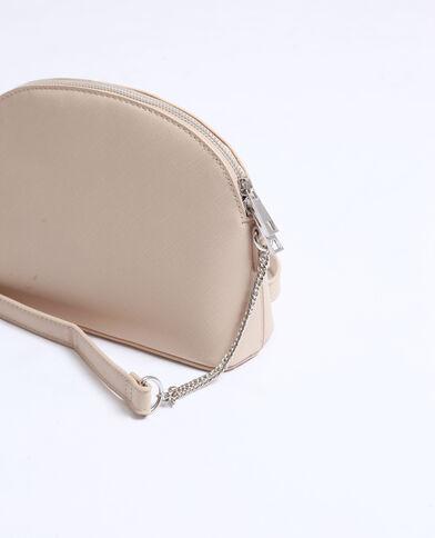 Piccola borsa in similpelle beige