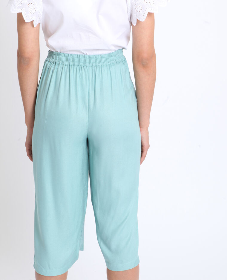 Gonna pantalone morbida verde acqua