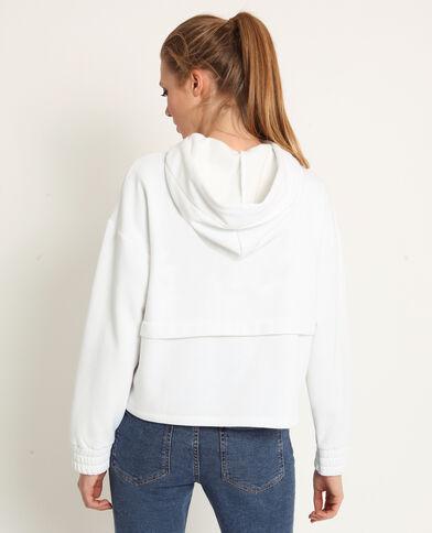 Felpa con cappuccio bianco