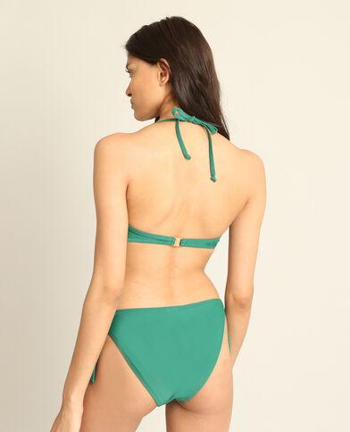 Pezzo sopra di bikini con volant verde abete
