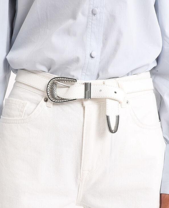 Cintura sottile. bianco