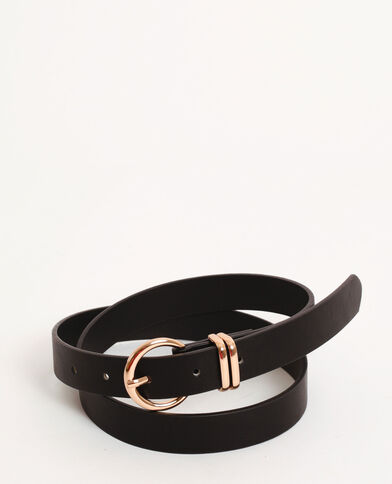Cintura in similpelle liscia nero