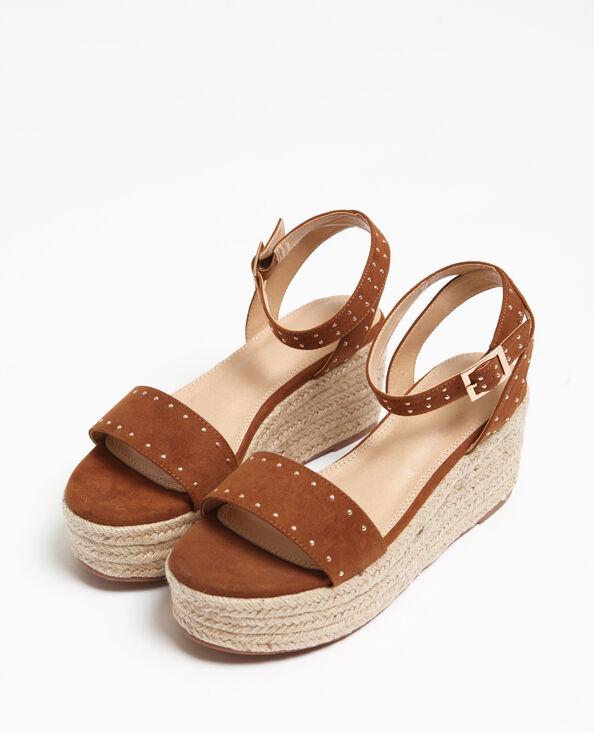 Sandali con plateau marrone