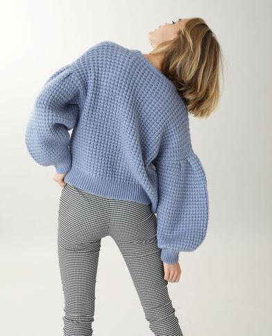 Pull in maglia grossa blu