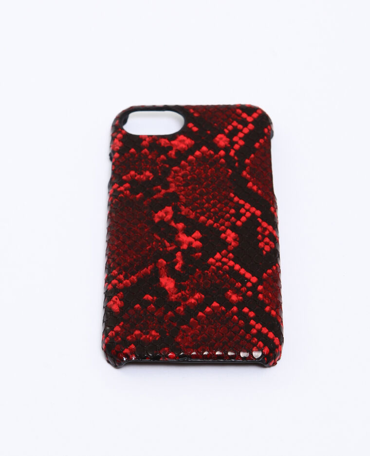 Cover pitone compatibile con iPhone rosa