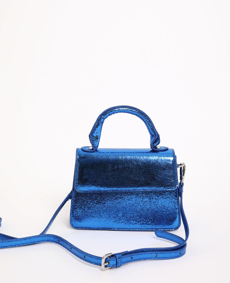 Borsa boxy blu