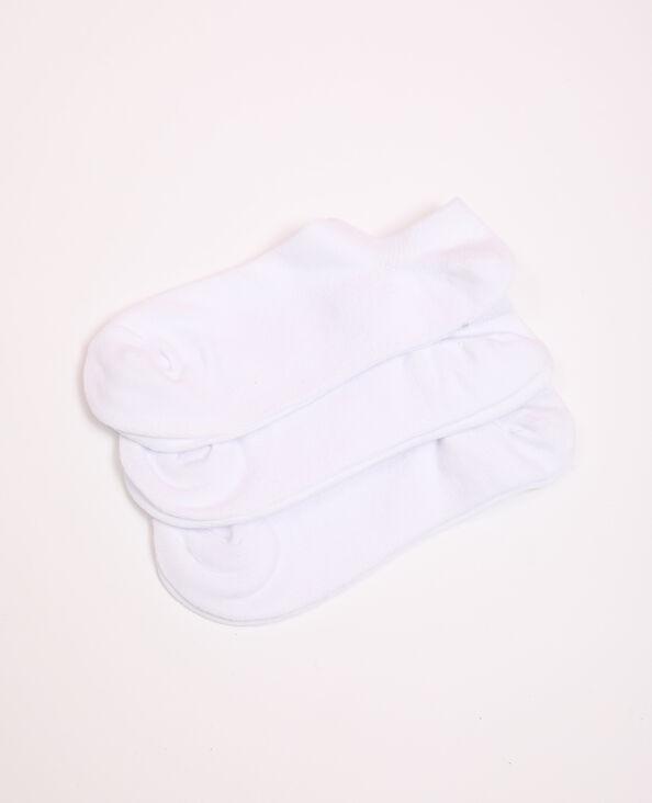 Lotto di calzini bassi bianco
