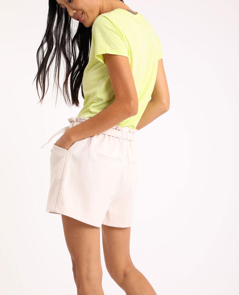 Short a vita alta bianco - Pimkie