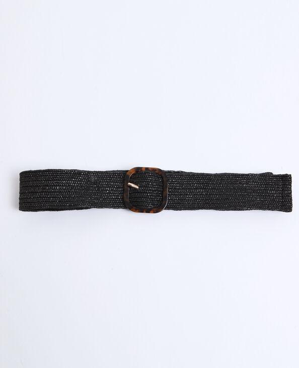 Cintura in rafia nero