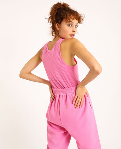 Canotta in maglia a coste rosa - Pimkie
