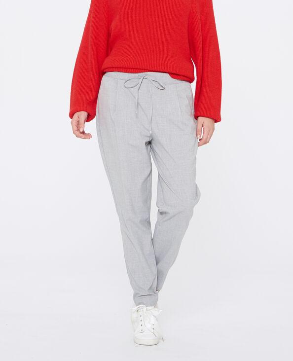 Pantalone carrot grigio chiné